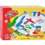 Пластилин игровой + вафельница, формочки