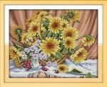 Вышивка крестом Солнечный букет