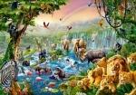 """Пазлы """"Река в джунглях"""""""