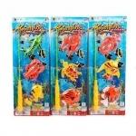 Рыбалка детская, 3 рыбки, удочка. Колечки.