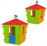 Домик детский, пластиковый, красно-желто-зеленый