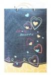 """Подарочный пакет, бумажный, """"Серця"""" 35*53*14 см"""