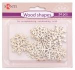 Набор форм деревянных «Снежинки», 24 шт