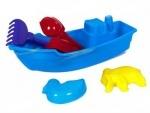 Лодка с пасками, лопаткой, граблями