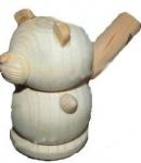 Свистулька деревянная Мишка без лак. покрытия
