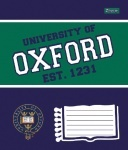 Тетрадь А5/12 клетка OXFORD колор