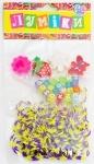 Набор для плетения, 200 резинок фиолетово-жёлтых