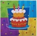 """Салфетка бум Торт """"Birthday"""""""