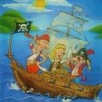 Салфетка Пираты 33см