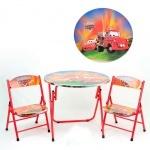 """Складной столик с двумя стульчиками """"Тачки"""""""