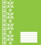 Тетрадь А5/12 косая POLISVIT Эко-1 (зелёная)