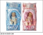 Кукла-пупс 40см  с коляской