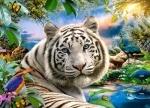 """Пазлы """"Белый тигр"""""""