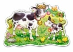 "Пазлы махі 12 элементов ""Корова и теленок на лугу"""