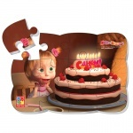 Пазл на магните «Маша день рождения»