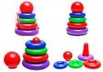 Пирамидка детская «Колечки»