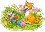"""Пазл """"Кошка с котёнком"""""""