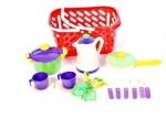 Посуда в корзинке