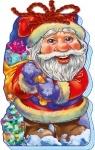 С Новым Годом! (мягкие): Дед Мороз (рус)