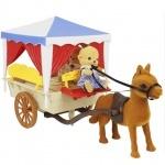Повозка с лошадкой и семьей обезьянок Happy family