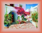 Вышивка бисером Греческий дворик