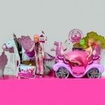 Музыкальная карета с куклой