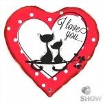 """Шар фольгированый, 18"""" сердце """"I love you"""" котята"""