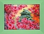 Вышивка бисером «Цветение сакуры»