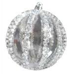 Шар d-8 см 2шт/уп прозрачный с серебренным узором