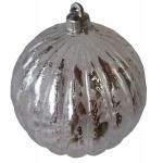 Шар d-8 см 2шт/уп серебряный с узором