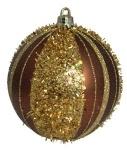 Шар d-8 см 2шт/уп, золотой и коричневый