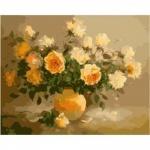 Рисование по номерам: Нежно-желтые розы
