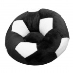 Кресло мяч большое черно-белое
