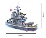 """Детский конструктор """"Военный корабль и форт"""""""