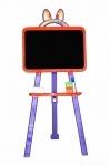 Мольберт магнитный для рисования (оранжево-фиолетовый)