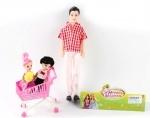 Кукла  Кен с детьми