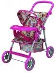 Прогулочная коляска для куклы с бампером «Milana»