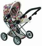 Детская коляска 2 в 1 с люлькой «Mary», цветная