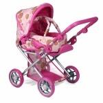 Детская коляска 2 в 1 с люлькой «Mary» , розовая