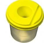 Стакан - непроливайка, желтый