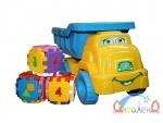 Машина для песка №4 желто-голубой
