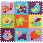 Детский коврик-пазл Веселый зоопарк