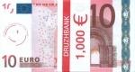 """,Пачка денег (сувенир) Евро """"10"""""""