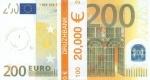 """Пачка денег (сувенир) Евро """"200"""""""