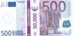 """Пачка денег (сувенир) Евро """"500"""""""