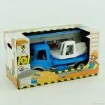 Машина Автокран синяя