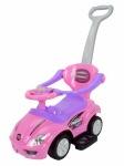 Толокар Magic Car с ручкой, розовый