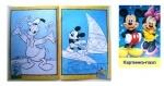 """Раскраска с наклейкой №009 """"Микки Маус"""""""