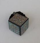 Резинки велюр. квадрат с камнями
