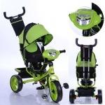 Детский трехколесный велосипед Turbo Trike, зеленый